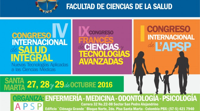 CONGRES  FRANCE COLOMBIE 27, 28 et 29 OCTOBRE  2016